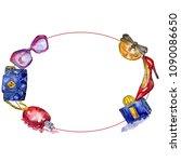 fashionable accessories sketch... | Shutterstock . vector #1090086650