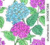 floral seamless background.... | Shutterstock . vector #1090087388