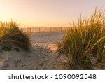 landscape of furadouro beach ... | Shutterstock . vector #1090092548