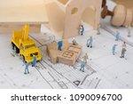 miniature worker  the concept... | Shutterstock . vector #1090096700