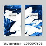 set of vector business card... | Shutterstock .eps vector #1090097606