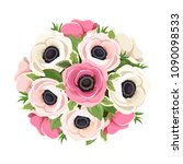 vector bouquet of pink and... | Shutterstock .eps vector #1090098533