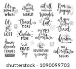 travel motivation lettering... | Shutterstock .eps vector #1090099703