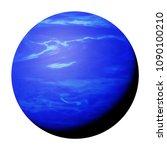 planet neptune isolated on... | Shutterstock . vector #1090100210