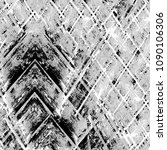 grunge black and white pattern. ... | Shutterstock . vector #1090106306