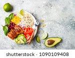 homemade mexican chicken...   Shutterstock . vector #1090109408