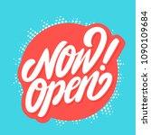 now open banner. vector... | Shutterstock .eps vector #1090109684