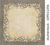 vector vintage border frame... | Shutterstock .eps vector #109011356