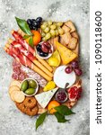 appetizers table with antipasti ... | Shutterstock . vector #1090118600