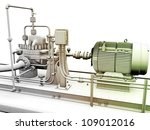 design of industrial engine and ... | Shutterstock . vector #109012016