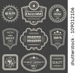 vintage labels. vector set.... | Shutterstock .eps vector #109012106