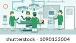 medicine surgery concept with... | Shutterstock .eps vector #1090123004