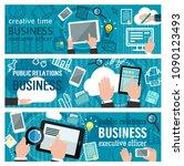banner about internet business. ... | Shutterstock .eps vector #1090123493