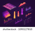 futuristic 3d isometric data... | Shutterstock .eps vector #1090127810