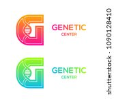 letter g colorful with dna... | Shutterstock .eps vector #1090128410