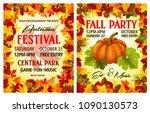 autumn harvest festival poster... | Shutterstock .eps vector #1090130573