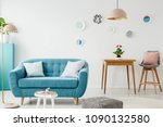 comfy sofa  coffee table  pouf  ... | Shutterstock . vector #1090132580