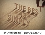 simply is the best wood word on ...   Shutterstock . vector #1090132640
