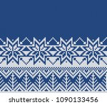 christmas and new year sweater... | Shutterstock .eps vector #1090133456