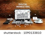 digital marketing new startup... | Shutterstock . vector #1090133810