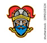 mascot icon illustration of... | Shutterstock .eps vector #1090135124