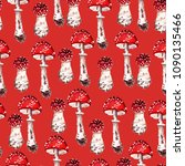seamless pattern with fly... | Shutterstock . vector #1090135466