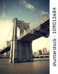 pier of brooklyn bridge in new... | Shutterstock . vector #109013684