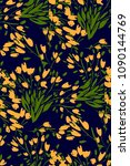 floral seamless pattern with... | Shutterstock .eps vector #1090144769