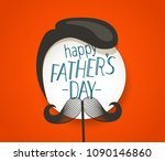 happy fathers day greeting card ... | Shutterstock .eps vector #1090146860