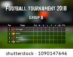 football results table.... | Shutterstock .eps vector #1090147646
