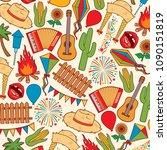 background pattern with festa...   Shutterstock .eps vector #1090151819