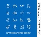 modern  simple vector icon set...   Shutterstock .eps vector #1090153166