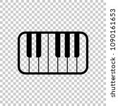 Piano Keyboard Icon. On...