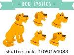 cartoon vector set of dogs...   Shutterstock .eps vector #1090164083