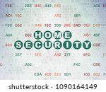 safety concept  painted green...   Shutterstock . vector #1090164149