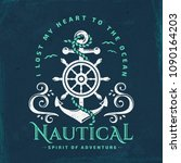 Nautical Typography Emblem With ...