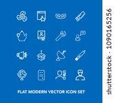 modern  simple vector icon set... | Shutterstock .eps vector #1090165256
