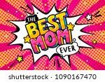best mom message in sound... | Shutterstock .eps vector #1090167470