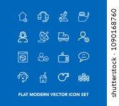 modern  simple vector icon set...   Shutterstock .eps vector #1090168760