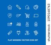 modern  simple vector icon set...   Shutterstock .eps vector #1090168763