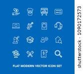 modern  simple vector icon set...   Shutterstock .eps vector #1090172573