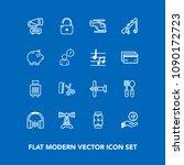 modern  simple vector icon set... | Shutterstock .eps vector #1090172723