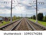 Rail Tracks. Railway Transport...
