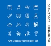 modern  simple vector icon set... | Shutterstock .eps vector #1090174970