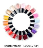 coloured nail polish bottles... | Shutterstock . vector #109017734