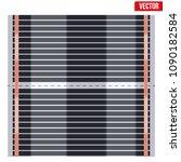 infrared floor heating system...   Shutterstock .eps vector #1090182584