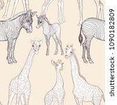 seamless pattern  background ... | Shutterstock .eps vector #1090182809