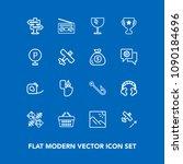 modern  simple vector icon set...   Shutterstock .eps vector #1090184696