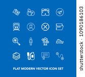 modern  simple vector icon set...   Shutterstock .eps vector #1090186103