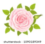 white background with a pink...   Shutterstock .eps vector #1090189349